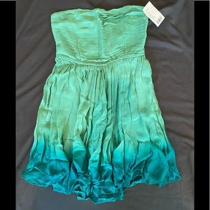 NWT Staring At Stars 2 Strapless Ombré Dress Green